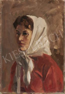 Ék Sándor - Fehér kendős női portré