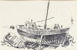 Ék Sándor - Halászhajó Lovrán