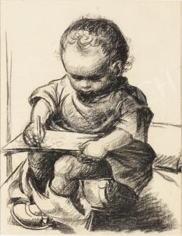 Ék Sándor - Rajzoló kisfiú