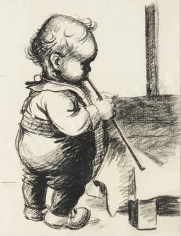 Ék Sándor - Furulyázó kisfiú
