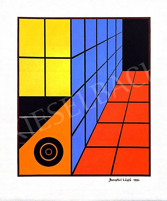 Eladó Monostori László - Dimenziók II., 1992 festménye