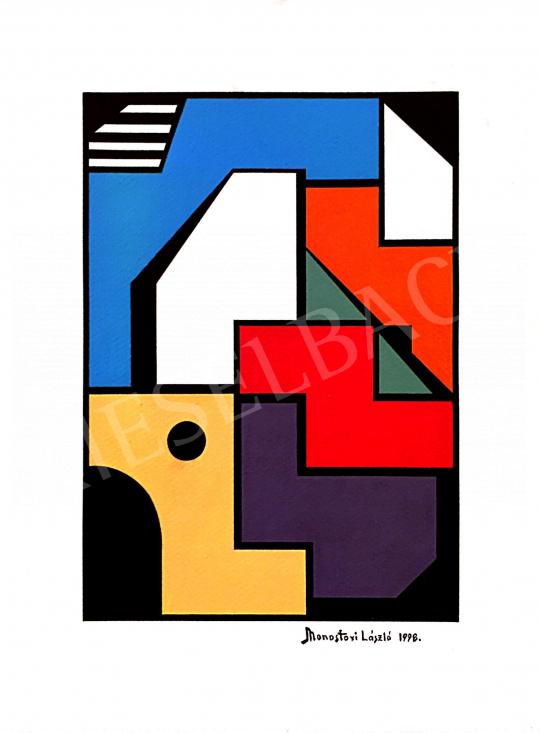 Eladó Monostori László - Színes házak II., 1998 festménye