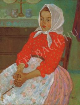 Kádár, Béla - Small Girl in a Headscarf, 1908/1910.