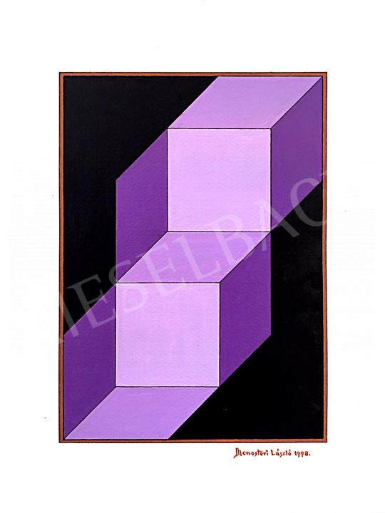 For sale Monostori, László - Purple Cubes, 1998 's painting