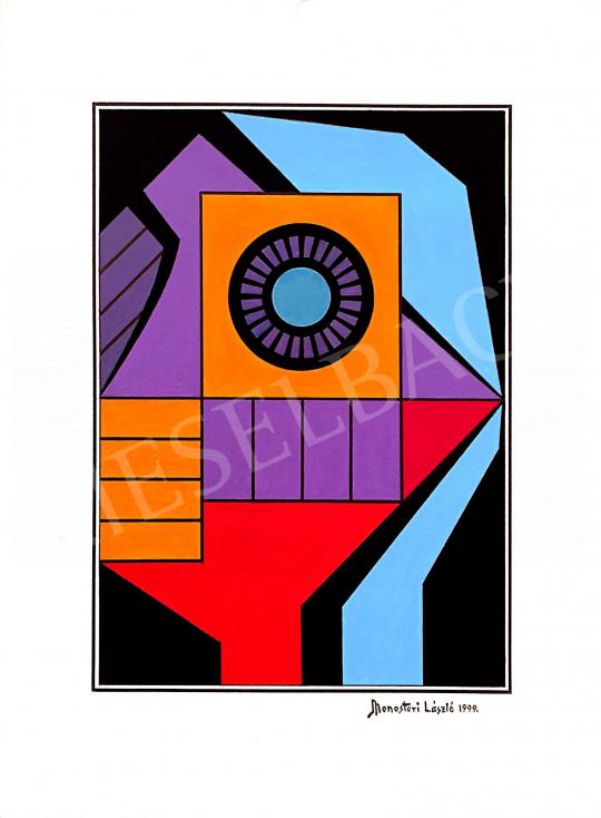 Eladó Monostori László - Kaméleon, 1999 festménye