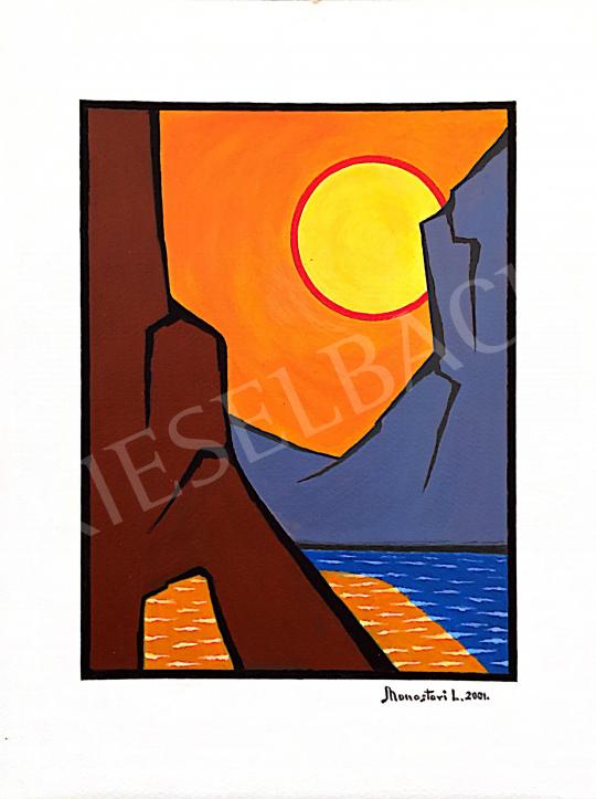 Eladó Monostori László - Lemenő nap, 2001 festménye