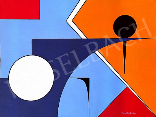 Eladó Monostori László - Geometria, 1994 festménye