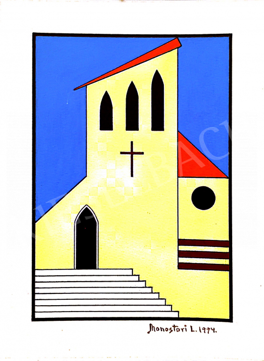 Eladó Monostori László - Domus dei, 1994 festménye