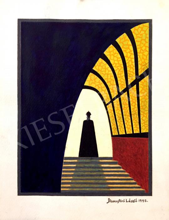 Eladó Monostori László - A fény kapujában, 1998 festménye