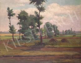 Petrányi Miklós - Tájkép boglyákkal, 1923