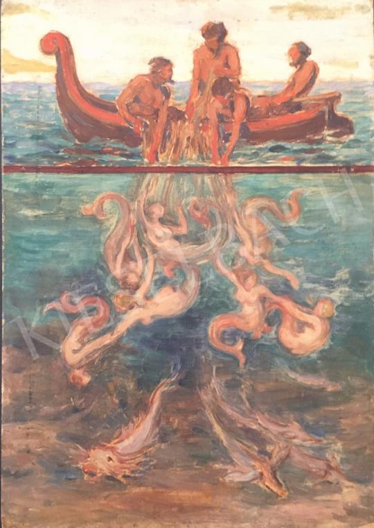 For sale  Petrányi, Miklós - Fisherman 's painting