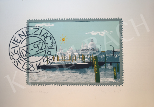 For sale Szőnyi, Krisztina - Venice Stamp 2., 1993 's painting