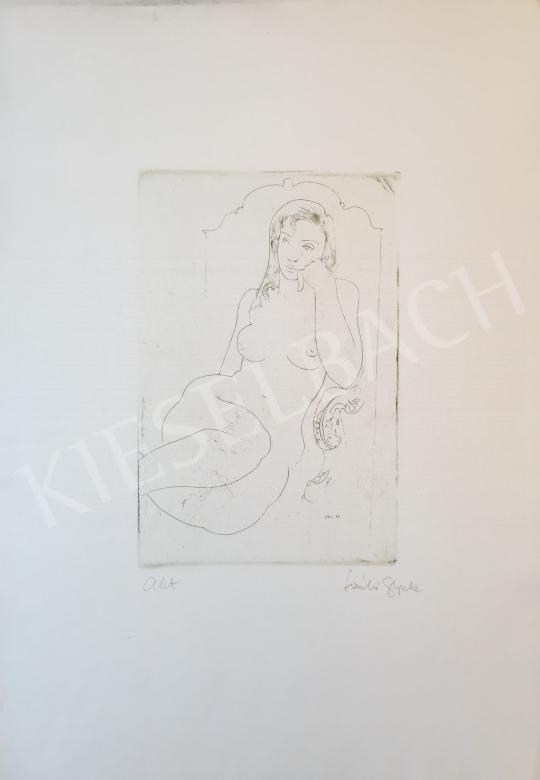 Eladó László Gyula - Akt, 1972 festménye