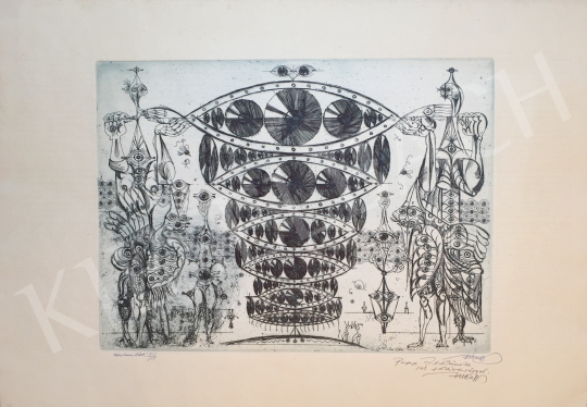 Hincz Gyula - Ezerszemlátó I/3 festménye