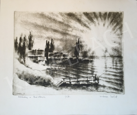 For sale Kórusz, József - Twilight at Lake Balaton 's painting