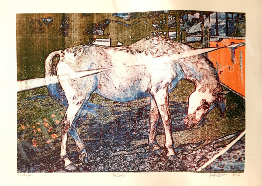 For sale Magén, István - White Horse, 2002 's painting
