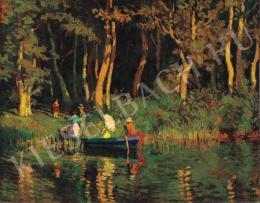 Nyilasy Sándor - Csónakázók, 1910 körül