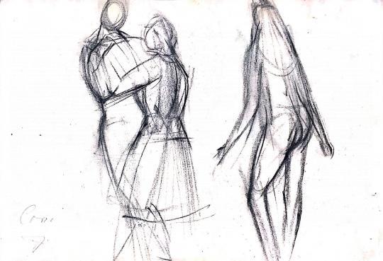 Eladó  Cora J. jelzéssel - Táncoló lányok festménye