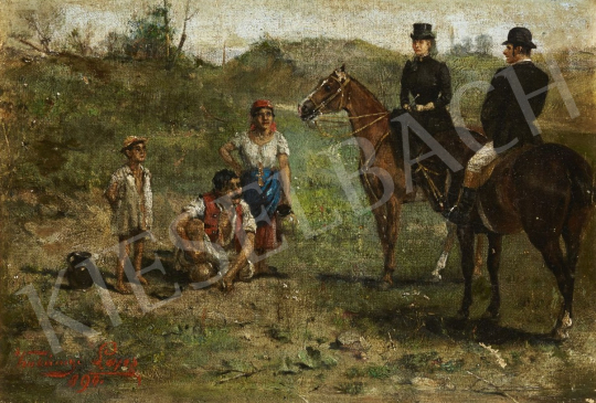 For sale Kubányi, Lajos, - Riding Out, 1890 's painting