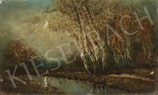 Eladó Albert Ferenc - Holdvilágnál festménye