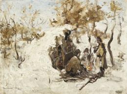 Bruck Lajos - Téli vadászat