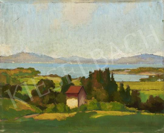 Eladó Balla Béla - Tájkép (Bárdi-tó) festménye