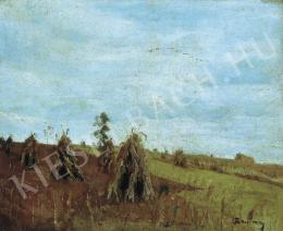 Rudnay, Gyula - Landscape with Corn Sheaves, Early 1920s.