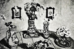 Fényes, Adolf - Pots with Flowers, 1934 (?)