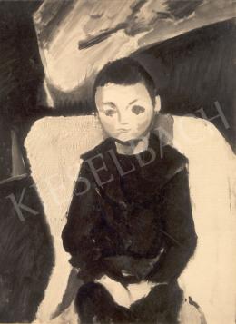 Berény Róbert - Fiú portré, 1911 körül