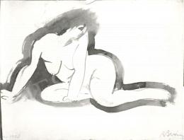 Berény, Róbert - Female Nude, 1908