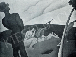 Berény Róbert - Sziluettes kompozíció, 1911