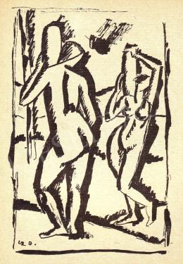 Czigány Dezső - Két női akt, 1911