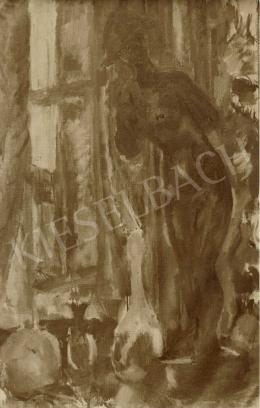 Czóbel Béla - Vörös aktszobor II., 1909