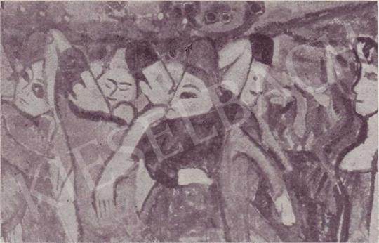 Czóbel Béla - Moulin de la Galette, 1907-1908 körül festménye
