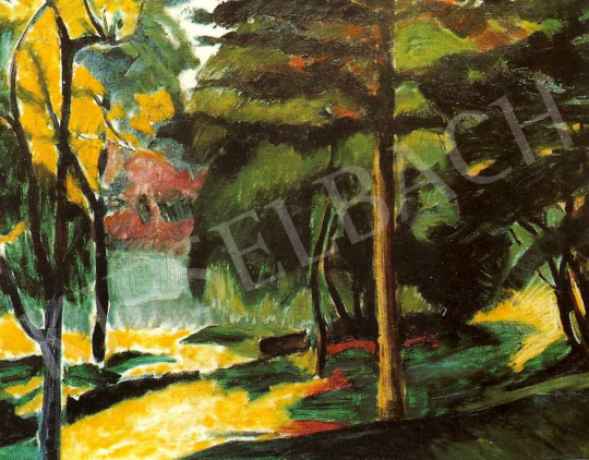 Kernstok, Károly - View of a Park, c. 1908-1909 painting