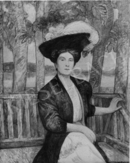 Kernstok, Károly - Portrait of Mrs Ödön Révai, 1907