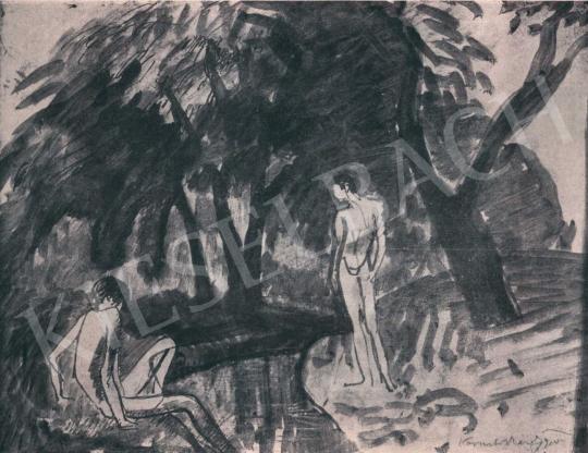 Kernstok, Károly - On the Brookside, 1910 painting