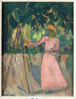 Márffy, Ödön - Paintress Outdoors, c. 1907