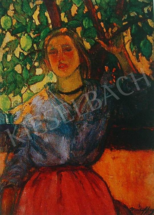 Márffy Ödön - Leány citromfa alatt, 1907 festménye