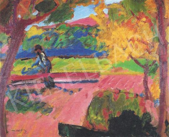 Márffy Ödön - Arató / Parkban / Tavasz, 1910 körül festménye