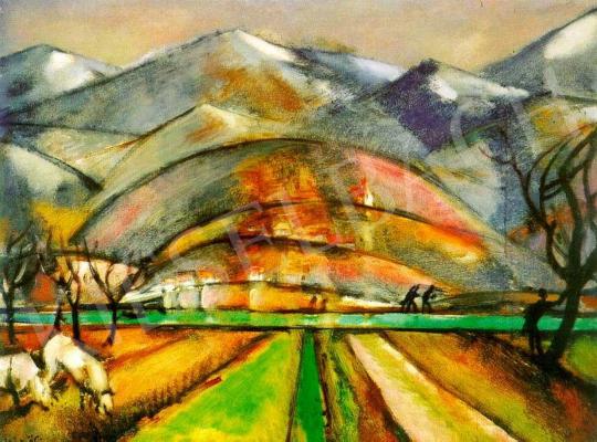 Márffy Ödön - Dalmát hegyek, 1914 körül festménye