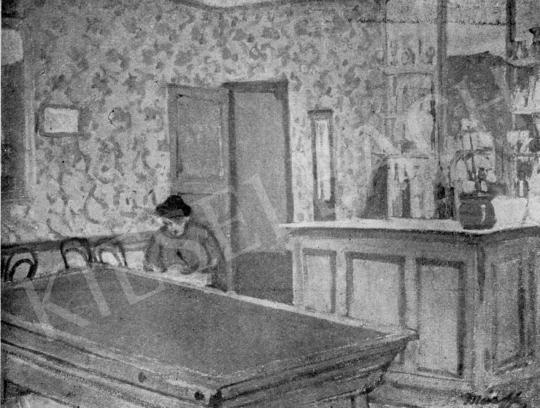 Márffy Ödön - Zöld tapétás szoba, 1906 festménye