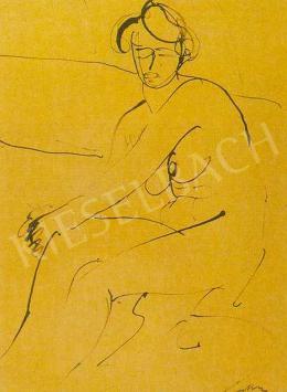 Márffy, Ödön - Sitting Female Nude, c. 1908