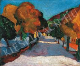Perlrott Csaba, Vilmos - Street in Nagybánya, 1909.