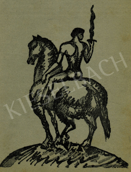 Kernstok, Károly - Rider with a Sword, before 1911