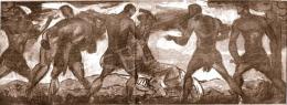 Kernstok, Károly - Hunters (Study), 1912