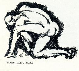 Tihanyi Lajos - Térdeplő fiúakt, 1910