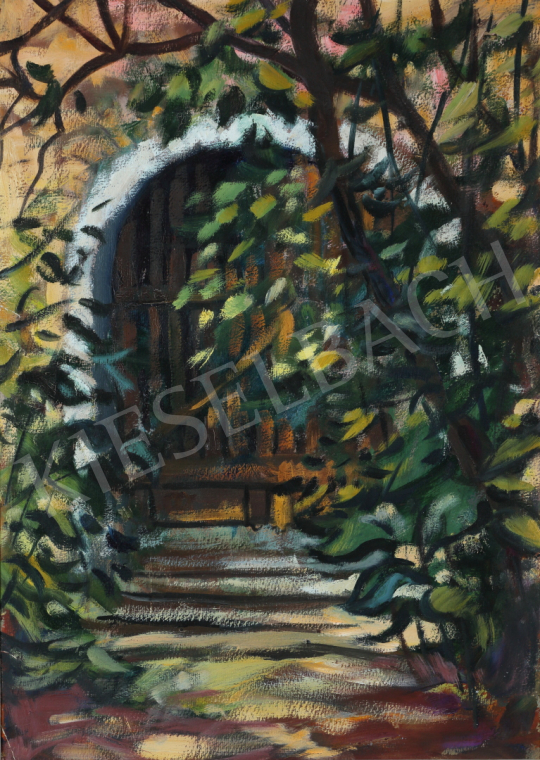 For sale Lukács, Ágnes - Bushes in front of the Gate, 1975 's painting
