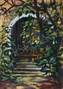 Lukács, Ágnes - Bushes in front of the Gate, 1975