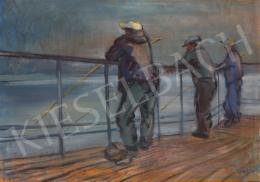 Lukács Ágnes - Horgászok a Mazúri tavon, 1981
